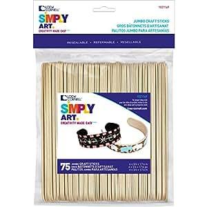Simply Art Wood Jumbo Craft Sticks 75 ct.