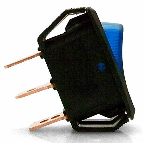 Keep It Clean 126077 Blue 25 Amp/12V Illuminated Rocker Switch 4