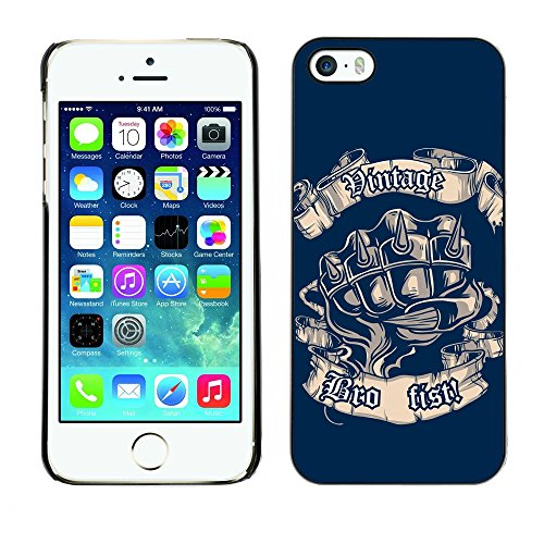 [ For APPLE IPHONE 5 / 5S ][ Xtreme-Cover ][ Coque Rigide Case Cover ] - Cool Vintage Bro Fist