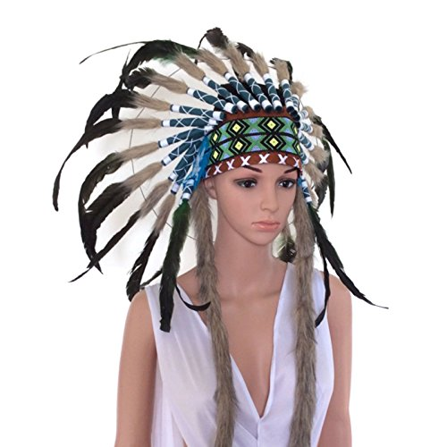 Unisex Native American Indian Tribal Headdress (One (Tonto Costume For Adults)