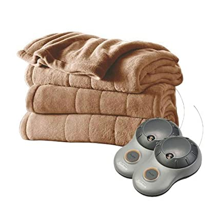 79bef5fe11 Image Unavailable. Image not available for. Color  Sunbeam Heated Plush Electric  Blanket