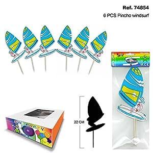 Sini Set de 6 Pinchos Windsurf para Canapés y Bebidas