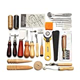 Toogoo Professional 37 Pcs Leather Craft Tools Kit Hand Sewing Stitching Punch Carving Work Saddle Leather craft Accessories