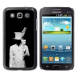 For Samsung Galaxy Win / I8550 / I8552 / Grand Quattro Case , Black White Man Costume Spooky - Diseño Patrón Teléfono Caso Cubierta Case Bumper Duro Protección Case Cover Funda