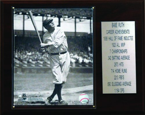 MLB Babe Ruth New York Yankees Career Stat Plaque from C&I Collectables