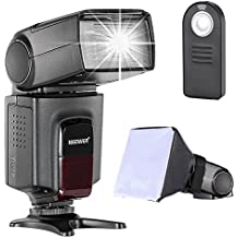 Neewer TT560 Speedlite Flash Kit for Canon Nikon Sony Pentax DSLR Camera with Standard Hot Shoe,Includes: (1) TT560 Flash + (1) Flash Diffuser + (1) Remote Control