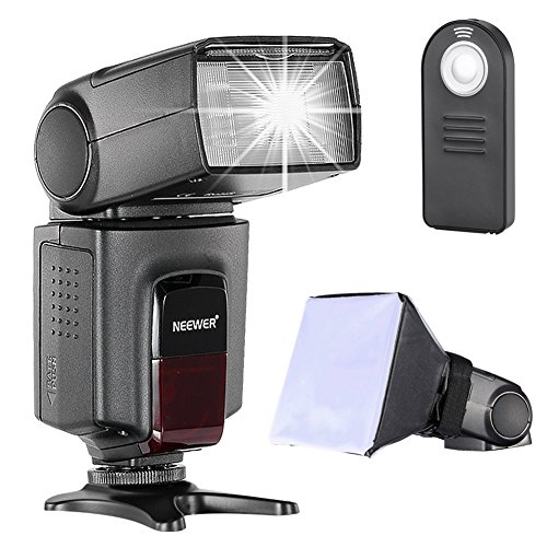 (Neewer TT560 Speedlite Flash Kit for Canon Nikon Sony Pentax DSLR Camera with Standard Hot Shoe,Includes: (1)TT560 Flash + (1)Flash Diffuser + (1)Remote Control)