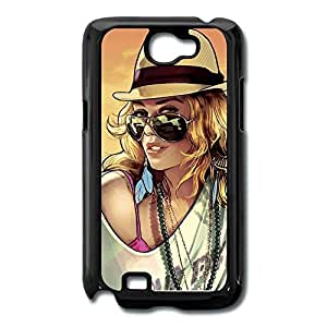 Galaxy Note 2 Cases Beauty Woman Design Hard Back Cover Shell Desgined By RRG2G