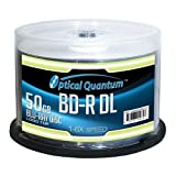 OPTICAL QUANTUM OQBDRDL06LT-50 6X 50GB BD-R DL Dual Layer Logo Top 50-PK