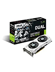 ASUS GeForce GTX 1070 O8GB Dual-fan OC Edition 4K/VR Ready Du...