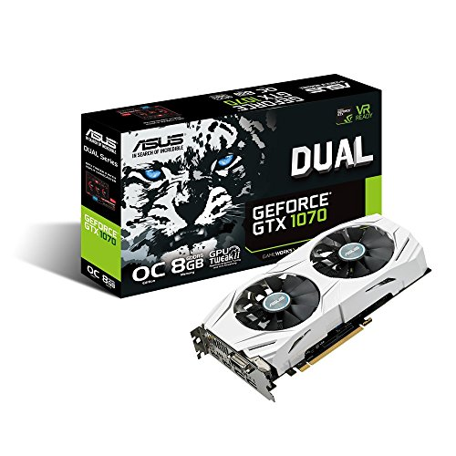GeForce Dual fan Gaming Graphics DUAL GTX1070 O8G