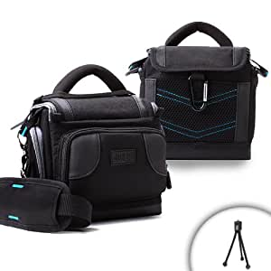 USA Gear Lightweight Durable Camera Bag With Padded Interior Lining for Sony Digital SLR Cameras NEX-7, NEX-5N, SLT-A5, SLT-A77 and many more (Includes Flexible Mini Tripod)