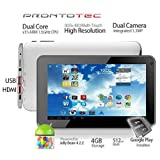 Prontotec 7 Inch Android Tablet Pc, A20 Cortex A8 Dual Core 1.5 Ghz, Android 4.2.2, 4g Rom, Ddr3 512m Ram, Dual Cameras, HDMI, Standard USB Port, Wi-fi, G-sensor (White), Best Gadgets