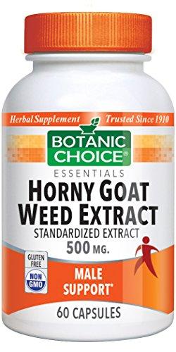 Botanic Choice Horny Goat Weed, 500 mg, 60 Capsules Pack of 5
