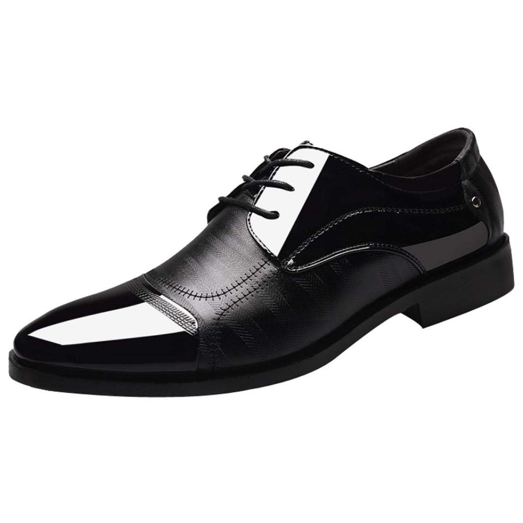 Zapatos Hombre, El clásico Moderno de los Hombres ATA para Arriba el Cuero alineó los Zapatos Perforados de Oxfords