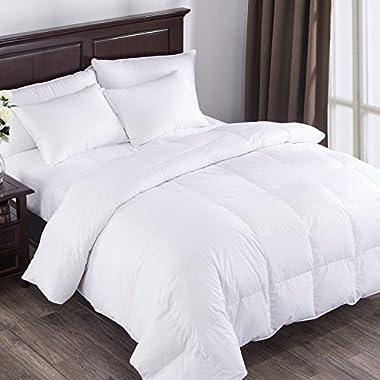 Puredown Cotton 600 Fill Power 104 x 88 inch Comforter,  King, White