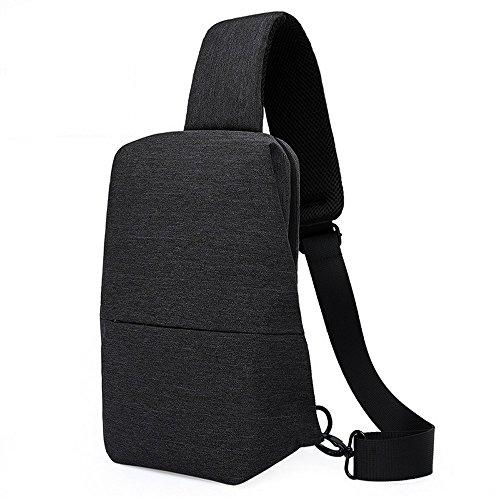 Sling Knapsack (VastStars Sling Backpack Waterproof Chest Bag Crossbody Daypacks for Outdoor Hiking Biking (Black))