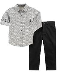 Calvin Klein Baby Boys' 2 Pieces Shirt Pant Set