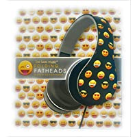 New Emoji Folding Fatheads Smiley Print All The Classic Emoticon Icons Over The Ear Fit Quality Stereo Sound