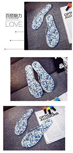Bininbox Kvinner Mote Blomster Flip-flops Tøfler 4 Farge Style3