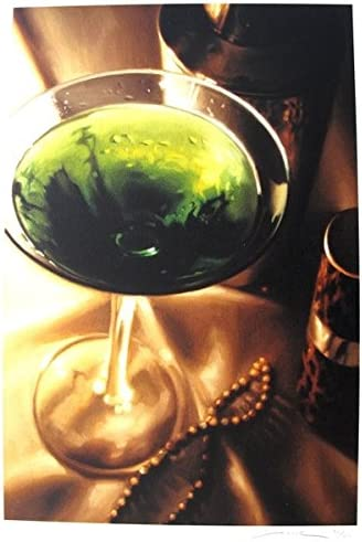 """CARRIE GRABER /""""MARTINI BAR/"""" Hand Signed Limited Edition Art Giclee"""
