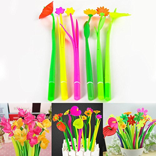 High-Season 6PCS Bloom Flora Flowers Pen Design Ballpoint Pens Stationery Gifts Kawaii Ballpen School Office Material Supplies Accessories from High-Season