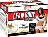 Labrada Nutrition Lean Body for Her Meal Replacement Shake, Soft Vanilla Ice Cream, 1.7-Ounce Packets (Pack of 20)