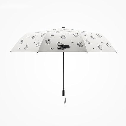 Mujer Hombre Paraguas Viaje Ultraligero Portátil Protector Solar Umbrella Protección UV Plegable Lluvia Paraguas Paraguas de