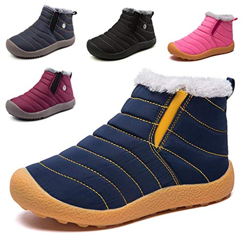 Homme Fille Femme Garçon Chaudes 48 Chaussures Eu Cczz Jaune Parents Fourrure De Bottes Imperméables Taille Baskets Bleu enfants 28 D'hiver Neige Enfants Outdoor Bottines tqExx0v8