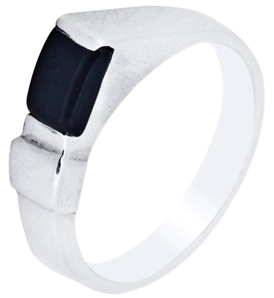 M/s Gajraj Onyx Stone 925 Sterling Silver Ring, US-12