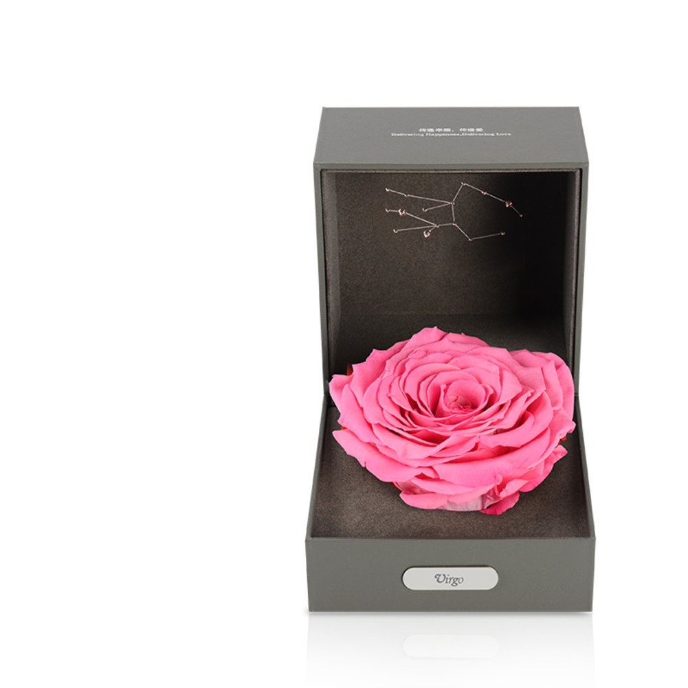 Imported Live Flower Gift Box/Fresh Colorful Roses/ Birthday Gift For Mother's Day-C