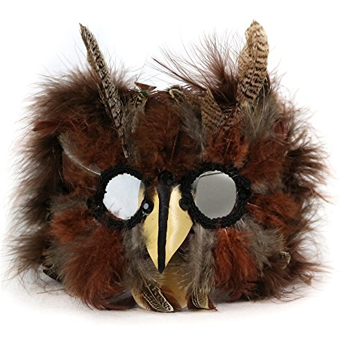 (Forum Novelties Unisex-Adult's Exotic Feather Mask, brown,)