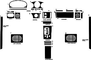 Rvinyl Rdash Dash Kit Decal Trim for Mercedes-Benz 400-Class 1973-1978 - Wood Grain (Oak Blonde)