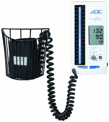ADC 9002 e-Sphyg II Automatic NIBP Blood Pressure Monitor with Small Adult, Adult and Large Adult BP Cuffs and Wall Mount ()