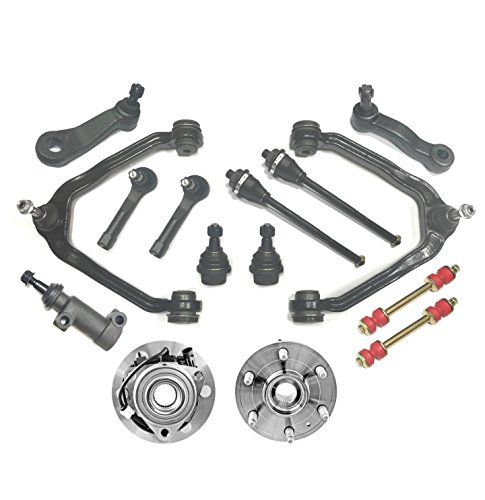 PartsW 15 Pc Suspension Kit For Chevrolet GMC Cadillac Escalade Avalanche Silverado Suburban Tahoe Sierra Yukon, Tie Rod Ends & Control Arms, Ball Joints & Sway Bars Wheel Bearing and Hub Assembly