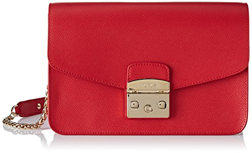 FURLA Women's Metropolis S Shoulder Bag Bag Red (Ruby)