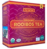 Rooibos Tea, USDA Certified Organic Tea, MY RED TEA. Tagless South African, 100% Pure, Single Origin, Natural, Farmer Friendly, GMO and Caffeine Free (80)