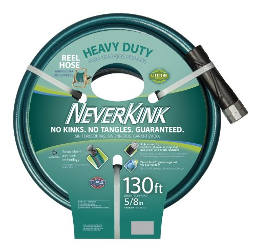 Teknor Apex 100519523 Neverkink 8615-130,  Heavy Duty Hose Reel Garden Hose, 5/8-Inch by 130-Feet ()