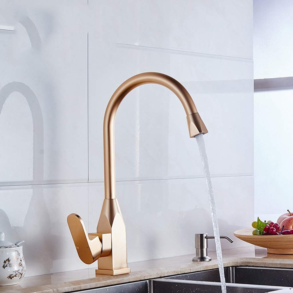 Space Aluminum Faucet  Kitchen Local Gold Vegetable Pot Bathroom Bath Room