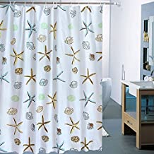 """Family Decor Sea Star PEVA Shower Curtain Liner , Mold and Mildew Resistant, Water Repellent - Extra Wide 96"""" x 72"""""""