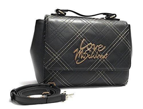 Love Moschino Stitching Borsa a manico nero
