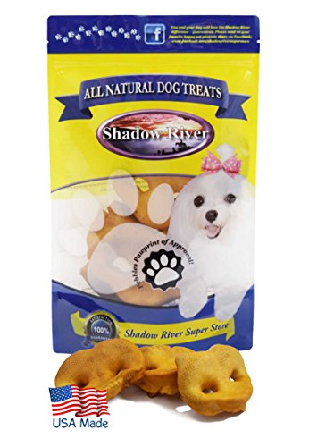 Shadow River Pig Snouts for Dogs - Premium All Natural Chews - 12 Pack Regular Pork Noses