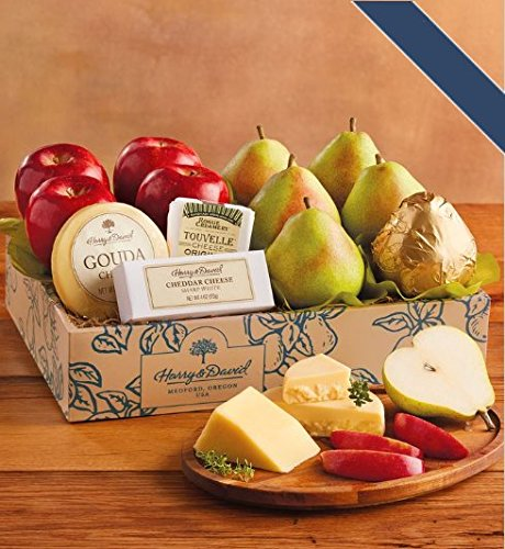 Harry And David Pears - Harry and David Deluxe Pears, Apples, and Cheese Gift Box