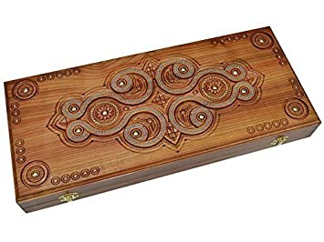 Amazon.com: Handmade Backgammon Set. 19.68 х 17,71 inch. Luz ...