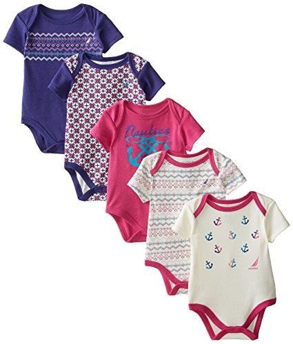 Nautica Baby Girls Pack Bodysuits