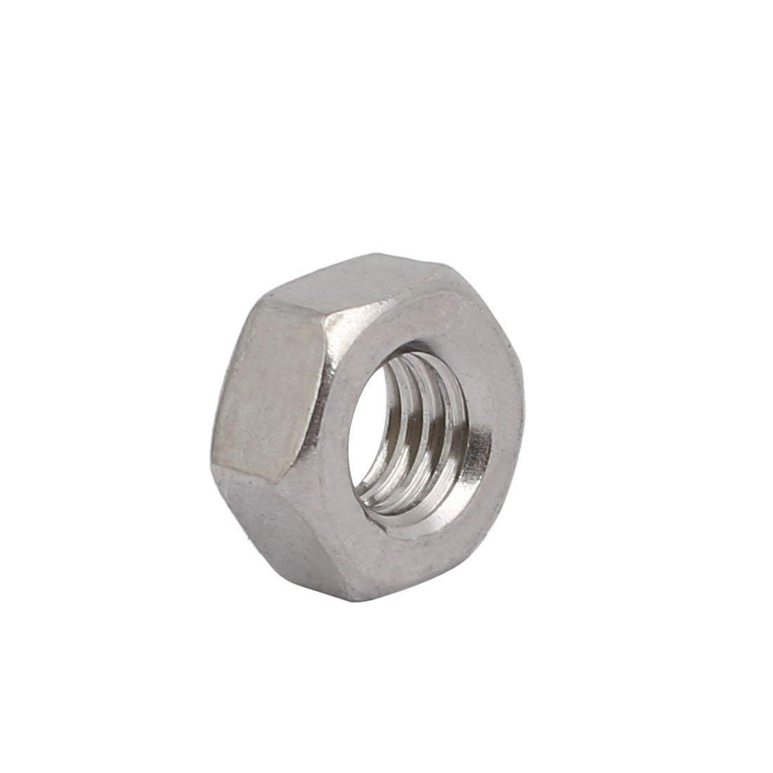 4pcs M6 x 1mm Step Metric Thread 304 Stainless Steel Hexagon Nuts on The Left