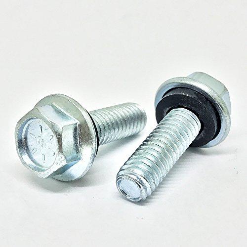 (100) 5/16-18x1 Grade 8 Flange Grain Bin Steel Building Bolts Zinc with Rubber -