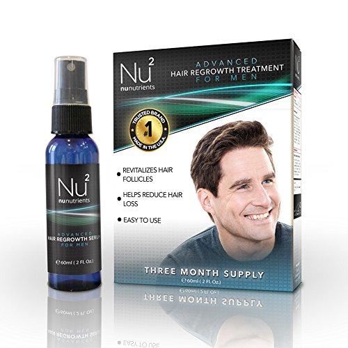 NuNutrients Advanced Hair repousse traitement pour les hommes - facile à utiliser Vaporisateur (une bouteille - 2 fl oz)