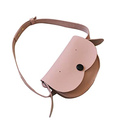 9eeef1dda5e2 Stylish Travel Leather Pink Cute Crossbody Waist Fanny Belt Pack Bag Purse  For Kids Teen Girls Toddler