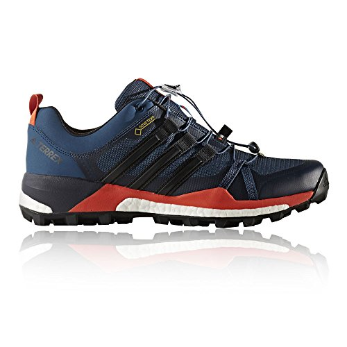 adidas Terrex Skychaser GTX, Stivali da Escursionismo Uomo Blu/Nero/Arancione (Azubas/Negbas/Energi)